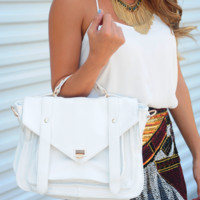 RESTOCK: On The Sunny Side Purse: White