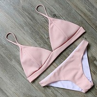 Peachy Triangle Two-Piece