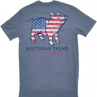 T-Shirt in a Cup - American Flag Pig