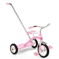 Radio Flyer Classic Trike with Push Handle, Pink