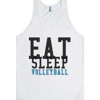 Eat Sleep Volleyball Tank-Unisex White Tank