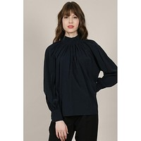 Romantic Blouse- Midnight Blue