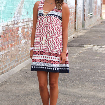 Cool for the Summer Woven Dress {Navy}