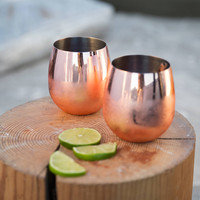 Copper Stemless Glasses Set | Urban Outfitters
