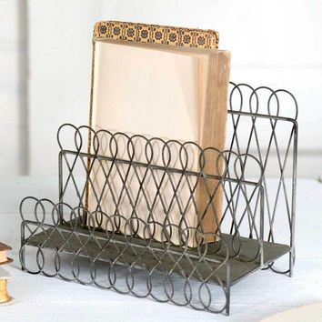 Set of 2 Looped Wire File Holder