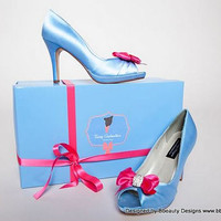 "Fairy Godmother ""Bippity Boppity Boo"" Peep Toe Custom Pumps and Gift Box Adult Costume"