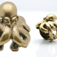 on sale Octopus Ring Solid Bronze sizes 7 to 11 Blue Bayer Design NYC