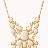 FOREVER 21 Statement Faux Stone Bib Necklace
