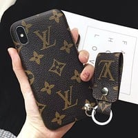 LV iPhone X iPhone 8 plus - Cute On Sale Hot Deal Matte Couple Phone Case For iphone 7 6s 6plus 6s plus I12268-1