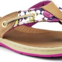 Sperry Top-Sider Seafish Thong Sandal Linen/PinkFloral, Size 7.5M  Women's Shoes