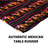 """Black and Yellow Mexican Table runners 14x118"""""""