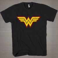 Wonder Women Logo  Mens and Women T-Shirt Available Color Black And White