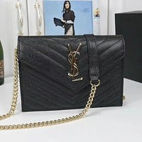 Yves Saint Laurent YSL classic hot sale gold buckle letter flap crossbody bag shoulder bag shopping bag