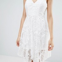Love Triangle Lace Hanky Hem Dress at asos.com