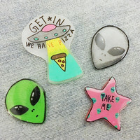 90s Grunge Alien Pin Pack