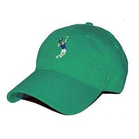 Tennis Player Needlepoint Hat in Kelly Green by Smathers & Branson