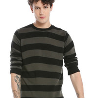 Black & Grey Stripe Sweater