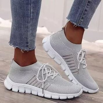 Women's Hollow-out Flats Cloth Flat Heel Sneakers