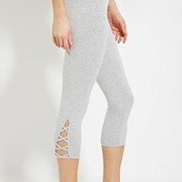 Active Heathered Capri Leggings | Forever 21 - 2000181007