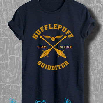 Harry Potter Shirt Hufflepuff Quidditch Tshirt Unisex Size T-Shirt