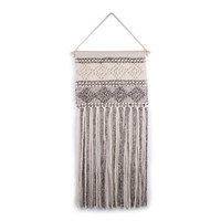 Hand-Woven Wall Hanging in Natural/Grey