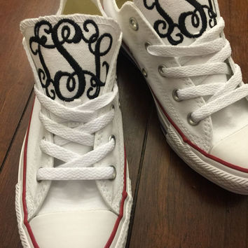 Monogrammed Converse Chuck Taylors - High or Low top
