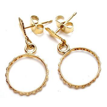 Vintage 14K Yellow Gold Dangle Earrings