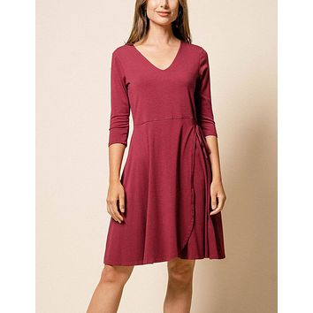 Bamboo Juliana Dress - Burgundy