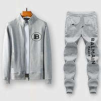 Balenciaga Casual Edgy Cardigan Jacket Coat Pants Trousers Set Two-Piece-9