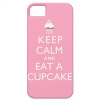 Keep Calm and Eat a Cupcake {pink} iPhone 5 Cases from Zazzle.com