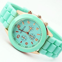 SELLING OUT.   Last two in Mint Green Silicone Watch Mint Green