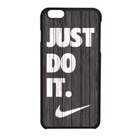 Nike Just Do It Wood Colored Darkwood Wooden iPhone 6 Case