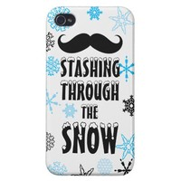 Funny Stashing Through The Snow iPhone4 Savvy Case from Zazzle.com