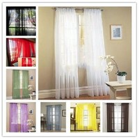 100 * 200cm Colored Gauze Curtain Curtains [8045583495]