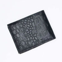 Mens Genuine Leather Bi-Fold Double ID wallet, ANIMAL PRINT Retail $50