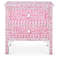Gloria Accent Chest, Pink/Ivory, Chest of Drawers
