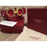 New Ferragamo Red/Black Reversible Belt 95cm Fits 32-34