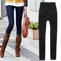 Women's Maternity Adjustable Waistband Skinny Pants Jeans Long Trousers Jeans clothes 19812 [8823603143]