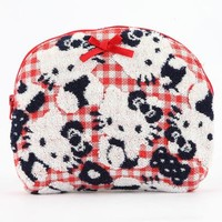 Hello Kitty Terry Cloth Pouch: Gingham