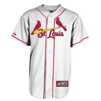 Majestic St. Louis Cardinals Replica Jersey - Cream