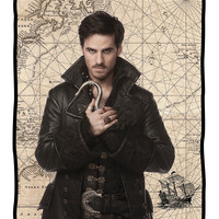 Once Upon A Time Hook Comfy Throw