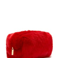 Faux Fur Makeup Bag