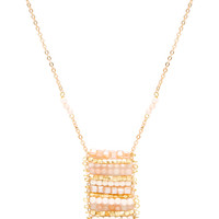 Anytime Abacus Necklace - Taupe