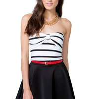 Pin Up Stripe Crop