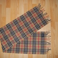 AUTHENTIC BURBERRY LONDON CLASSIC CHECK 100% CASHMERE SCARF