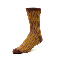 Oak Wood Grain Crew Socks