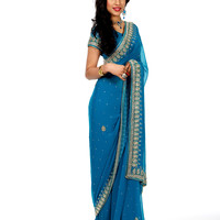 Elegant Wedding Reception Sari