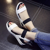 2017 New shoes Summer sandals women peep-toe sandalias flat Shoes Roman sandals shoes woman mujer Ladies Flip Flops Footwear Y83