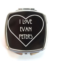 I Love Evan Peters Compact Mirror