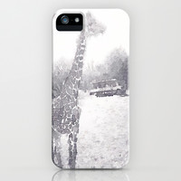 Giraffe painting iPhone & iPod Case by Elyse Notarianni